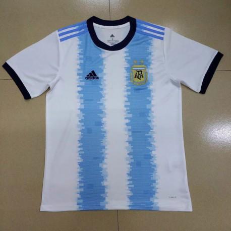 S-2XL 19/20 argentina home short sleeve jersey