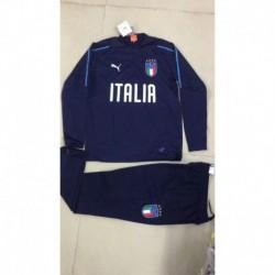 S-XL 18/19 Tracksuit Italy 18/19 Half Pull Italian Training Suit