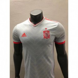 S-4XL Player Version Spain Away White 2018 World Cup Player Spain Awa