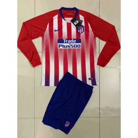Kids 18/19 atletico madrid home jersey child re