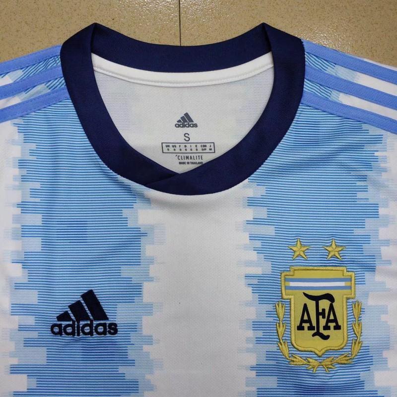 fb7294042 ... S-2XL 19 20 argentina home short sleeve jersey ...