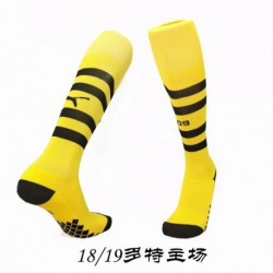 Socks 18/19 borrusia dortmund home socks thailand quality kids adul