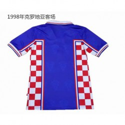 S-XL 1998 Croatia Away Retro Jerseys 1998 Croatian From Vintage Jerse