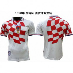 S-XL 1998 Croatia Home Retro Jerseys 1998 Croatia Home Vintage Jerse