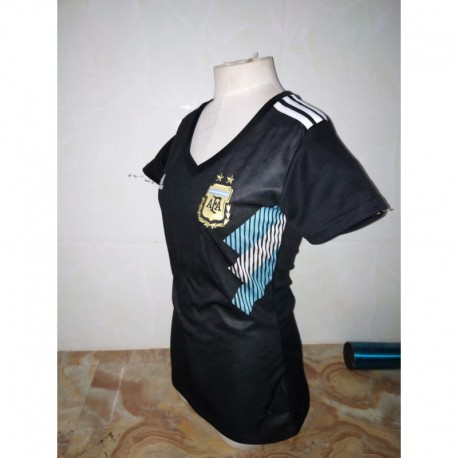 S-XL Girl Argentina Away Women Lady 2018 World Cup Argentina Away Misses Wea