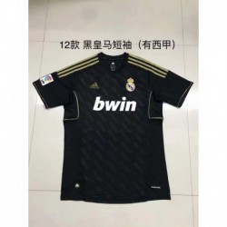 S-XL 12 Realmadrid Retro Jerseys 12 Vintage Black Real Madrid T-Shir
