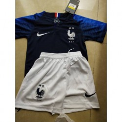 Two star kids france home jersey child ren 2018 france home kids two stars 16-2