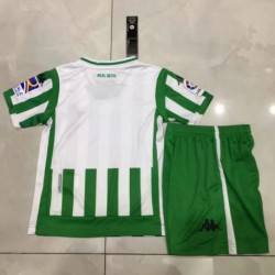 Kids 18/19 real betis home jersey child re