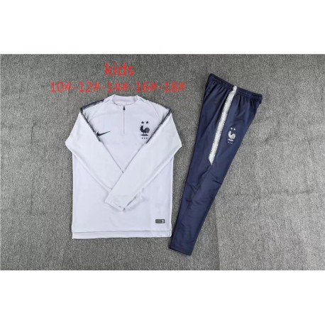 finest selection 4e936 bb7e2 France Shirt 2 Stars,France Soccer Jersey White,Kids 18/19 Tracksuit France  child ren 1819 French White Two Stars Kids