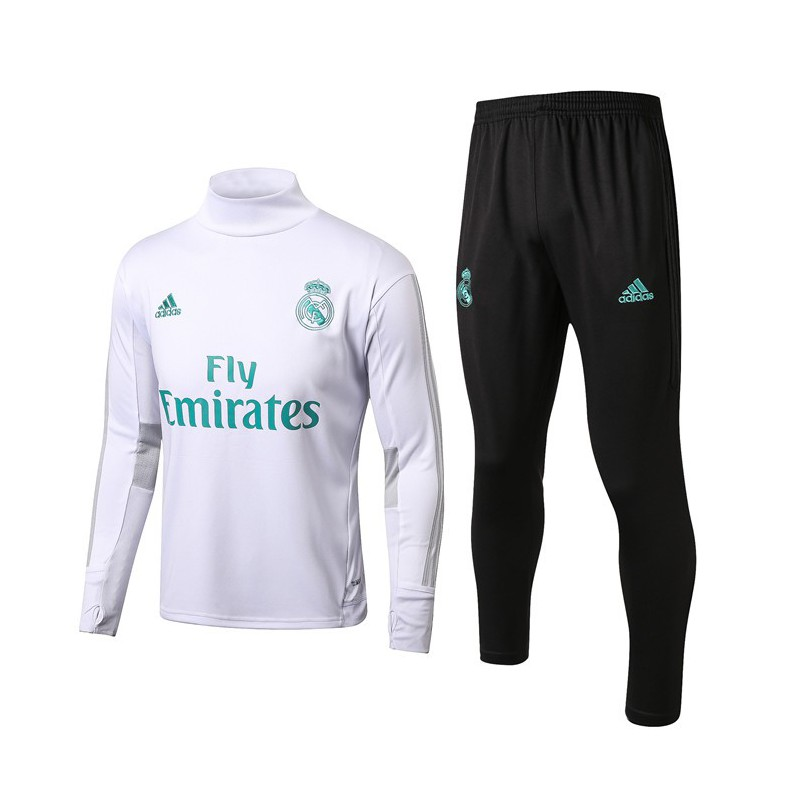 Real Madrid Tracksuit White,Real Madrid White Tracksuit,S-XL Size:17-18 tracksuit real madrid training suit white high collar